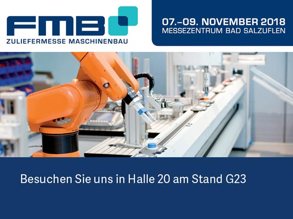 FMB Messe 2018 vom 07. - 09. November